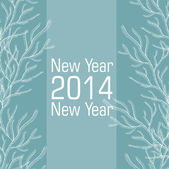New 2014 year vector card — Stock Vector