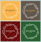 Set of Christmas frames — Stock Vector