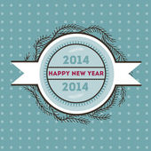 Happy new 2014 year — Vector de stock