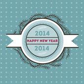 Happy new 2014 year — Stock Vector