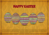 Vintage Easter card — Vector de stock