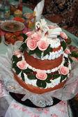 Traditional ukrainian wedding cake (loaf) — Stock Photo