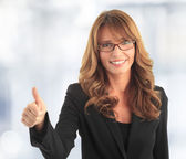 Attractive business woman — Stockfoto