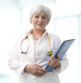 Senior Female Doctor — Stock Photo