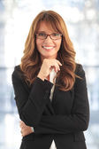 привлекательный бизнес женщина — Стоковое фото