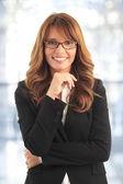 Mulher de negócios atraente — Foto Stock