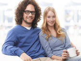 Watching Tv Together — Stock Photo