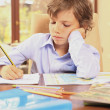 Stock Photo: Boring homework