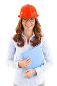 Female construction manager — Stock Photo