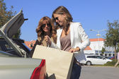 Mulheres belas compras — Foto Stock