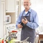 Senior Man in the Kitchen — Stock Photo