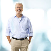 Portrait Of A Senior Businessman Smiling — Photo