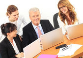Business discussing in a meeting — Foto Stock