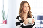 Young businesswoman on coffee break. — Stock Photo