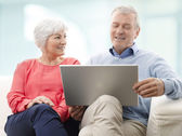 Senior Couple With Laptop — Stock Photo