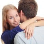Portrait of young man bonding a beautiful woman — Stock Photo #25835083