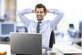 Relaxed Businessman — Stock Photo