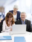 Teamwork in office — Stock Photo