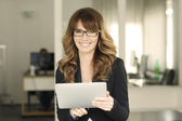 Smiling confident lawyer businesswoman — Stock Photo