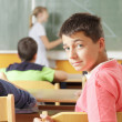 Stock Photo: Young Student in Classroom