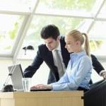 Businesscouple Working On Laptop — Stock Photo #31458023