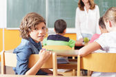 Young Student in a Classroom — Stock Photo