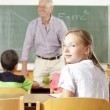 Stock Photo: Student portrait in the classroom