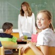 Student portrait in the classroom — Stock Photo