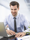 Portrait of a smiling businessman — Stock Photo