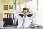 Relaxed Young Businessman — Foto Stock