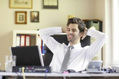 Relaxed Young Businessman — Stock Photo