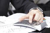 Financial data analyzing — Stock Photo