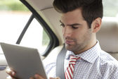 Businessman On the road — Stock Photo
