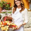 Smiling Woman Florist, Small Business Flower Shop Owner — Stock Photo #33984969