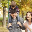 Loving family in the park — Stock Photo