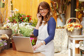 Flower Shop Owner — Stockfoto