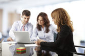 Teamwork in the office — Stock Photo