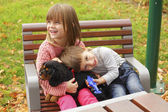 Happy kids in the park — Stock Photo