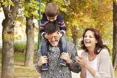 Loving family in the park — Stock Photo