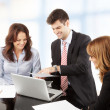 Stock Photo: Business people working in group