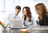 Business people working in group — Stock Photo
