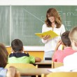 Teacher In Classroom — Stock Photo