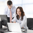 Businessmen working with his colleague — Stock Photo #39339489