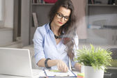 Portrait of beautiful modern businesswoman — Stock Photo