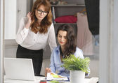 Two businesswoman meeting in office — Stock Photo