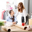 Stock Photo: Fashion designers working together