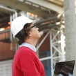 Close-up portrait of construction architect — Stock Photo