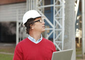 Portrait of construction architect — Stock Photo