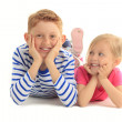 Happiness brother and sister together — Stock Photo #41260535