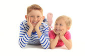 Happiness brother and sister together — Stock Photo